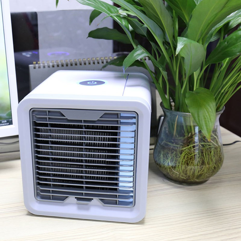 HTB1iM1ga5zxK1RjSspjq6AS.pXab USB Mini Portable Air Conditioner Humidifier Purifier 7 Colors Light Desktop Air Cooling Fan Air Cooler Fan for Office Home