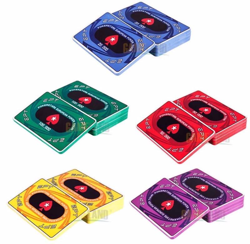 european ceramic poker chips rectangular 5 pcsset ept chip setchina - Poker Chips Set