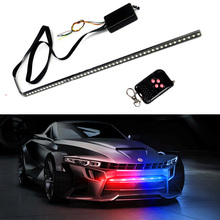 Skuer 7 Color 48 LED Waterproof Remote Flash Car Strobe Knight Rider Light Strip Kit +Remote Control