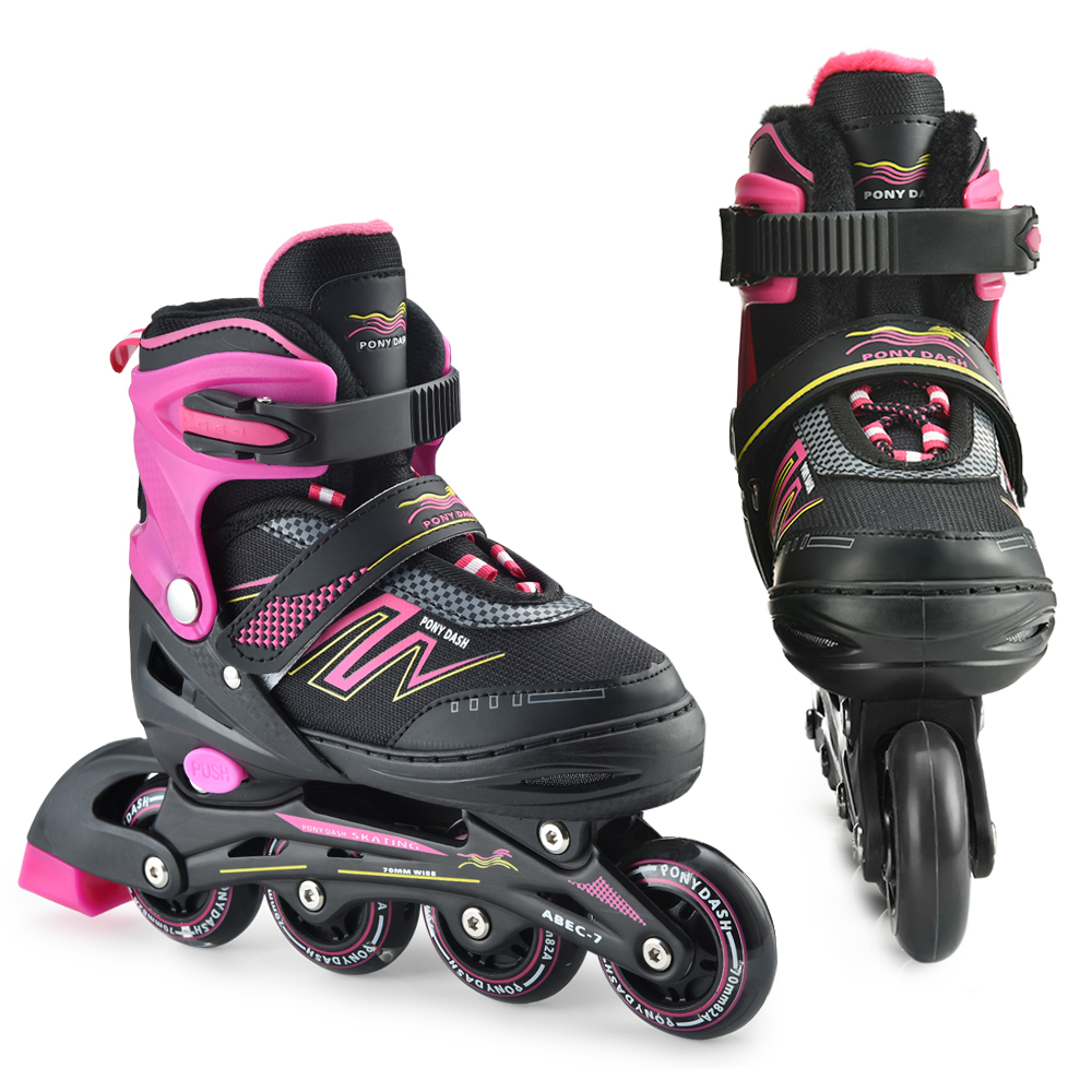 Professional Inline Skates Boys Girls Outdoor Roller Blades Shoes Adjustable