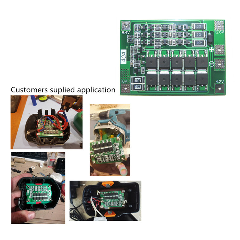 Free Shipping BMS 3S 40A  Balance 18650 3.7V Li-ion  Battery Protection Board Equalizing Startable Drill