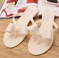 Новые Летние сандалии желе леди Боути цветок плоские сексуальные вскользь женский пляж вьетнамки женская обувь дома