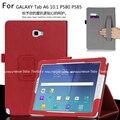 Tablet case capa para samsung galaxy tab a a6 10.1 s-caneta versões p580 p585 case virar pu stand com titular mão shell Funda + Gift