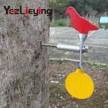 2 STÜCKE Geeignet für Paintball Spiral Stahl Plinking Ziel - Taube + Runde Für .177 & .22 Blei Partikelgewehre, Slingshot Shooting