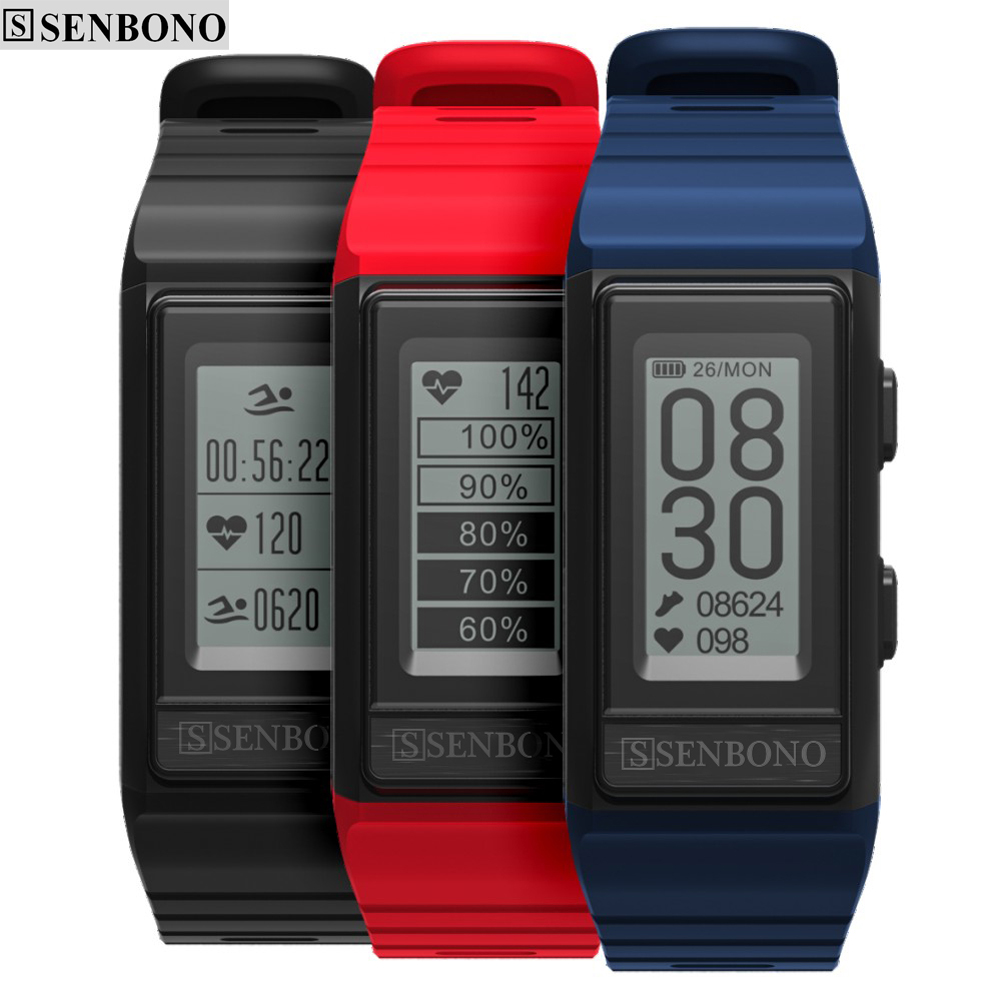 SENBONO S909 GPS Sport Smart band Monitor Cardiaco Activity Tracker Altitude Heart Rate Fitness Bracelet Men IP68 Waterproof-in Smart Wristbands from Consumer Electronics    1
