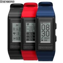 SENBONO S909 GPS spor akıllı bant monitör Cardiaco aktivite izci irtifa kalp hızı spor bilezik erkekler IP68 su geçirmez
