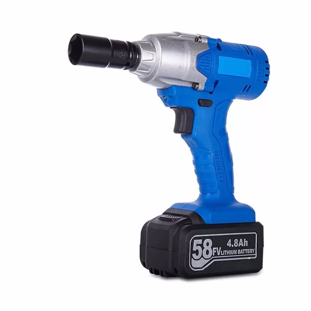 1/2'' Li-ion 58v 4.8Ah 2800r/min lithium Battery Socket wrench Electric Impact Wrench Car Tyre Wheel Cordless Wrench Drill lithium rechargeable electric wrench wrench cordless impact wrench scaffolding installation tool can change car wheel