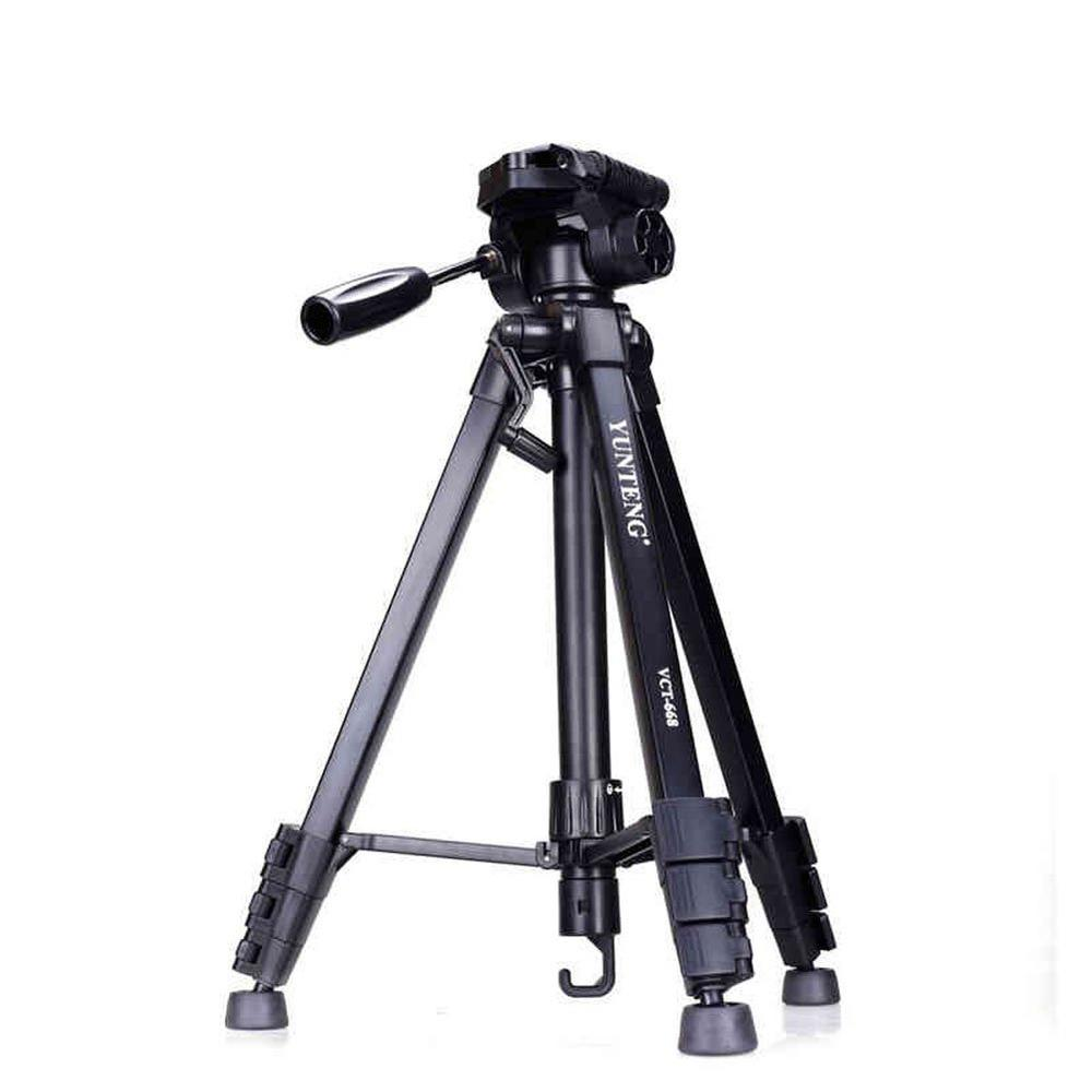 Yunteng VCT 668 Camera Tripod for Travel Stand Accessories with Pan Head for Studio Video DSLR Digital Camera Phone Load 3kg