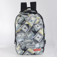 High Quality Polyester Laptop School Backpacks Leisure Bag With Full Printing For Teenage