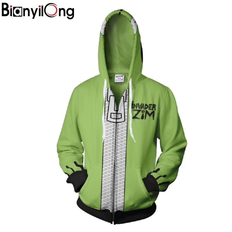 2018 New Fashion Cool Sweatshirt Hoodies Men Women 3D Print Green Cartoon Cosplay Tee Hot Style Streetwear Long Sleeve Clothing