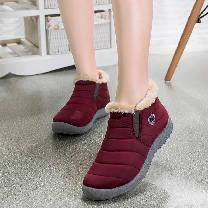 Toptan kadınlar kış ayakkabı çift Unisex kar botları sıcak kürk Antiskid alt tutmak sıcak anne günlük çizmeler boyutu 35- 48