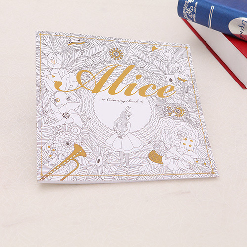 Alice In Wonderland  Colouring Book   Secret Garden Style Coloring Book  Relieve Stress Kill Time Graffiti Painting Drawing Book versace versace ve110dwhkj40