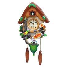 Modern minimalist art Cartoon clock quartz mute children creative living fashion watch shipping bird Music Clock