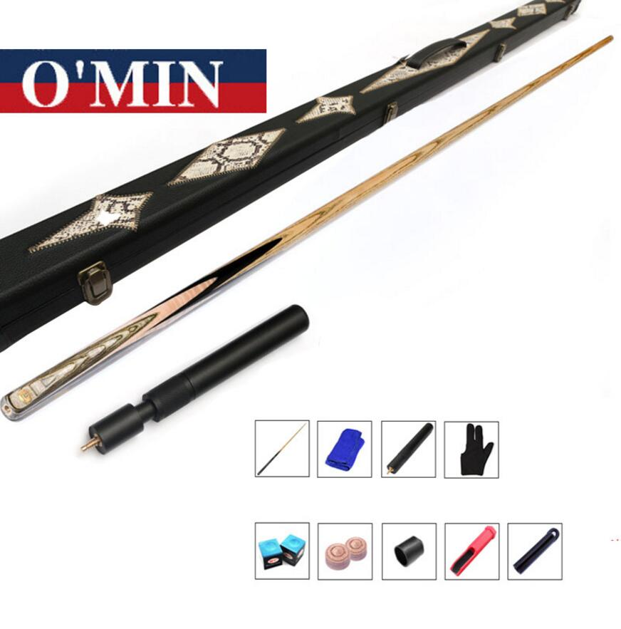 O'Min FANTASY Model One Piece Snooker Cue Case Set 9.8mm Tip with Snooker Cues Case Set Handmade Professional Billiard Kit China