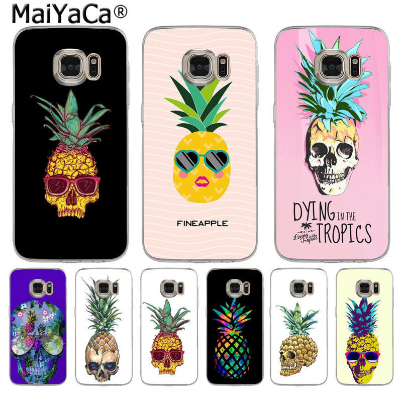 MaiYaCa Skull head fruit pineapple Fashion Fun Dynamic phone case for Samsung S3 S4 S5 S6 S6edge S6plus S7 S7edge S8 S8plus