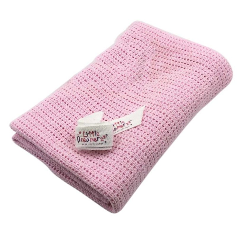 Newborn Baby Blankets Cotton Swaddling Crochet Prop Crib Sleeping Bed Supplies 100cmX75cm