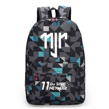 Neymar JR Canvas Backpack Men Women Backpacks Travel Bag Boy Girl School Bag For Teenagers Foot Ball RuckSack Mochila Escolar цена 2017