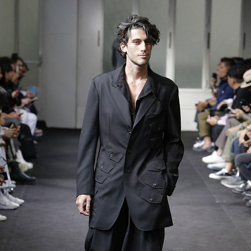 S-6XL! Big yards la scène vêtements 2019 conception originale hommes trench coat défilé de la tendance des vêtements personnalisés faits à la main