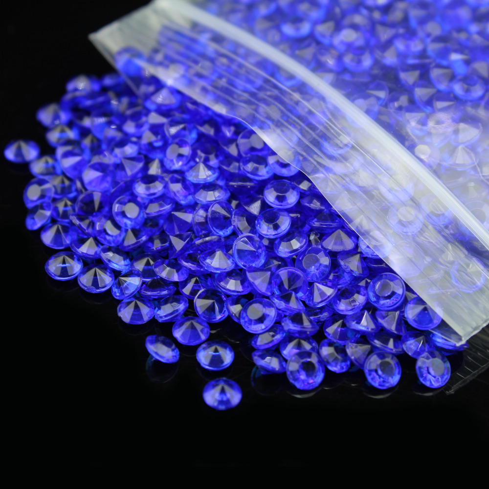Us 16 32 49 Off Hot 10000pcs 6mm Sapphire Blue Wedding Table Scatter Diamond Crystals Wedding Christmas Diamomds Decorations Best Gift In Party Diy