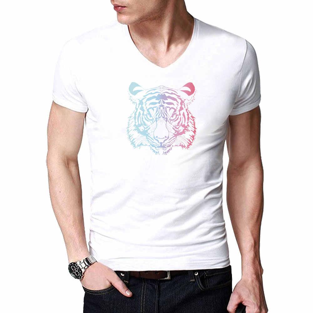 패션 여름 타이거 T-셔츠 남성 여성 코 튼 T 셔츠 통기성 3D 동물 인쇄 옴므 티 셔츠 남성 짧은 소매 탑스 티셔츠