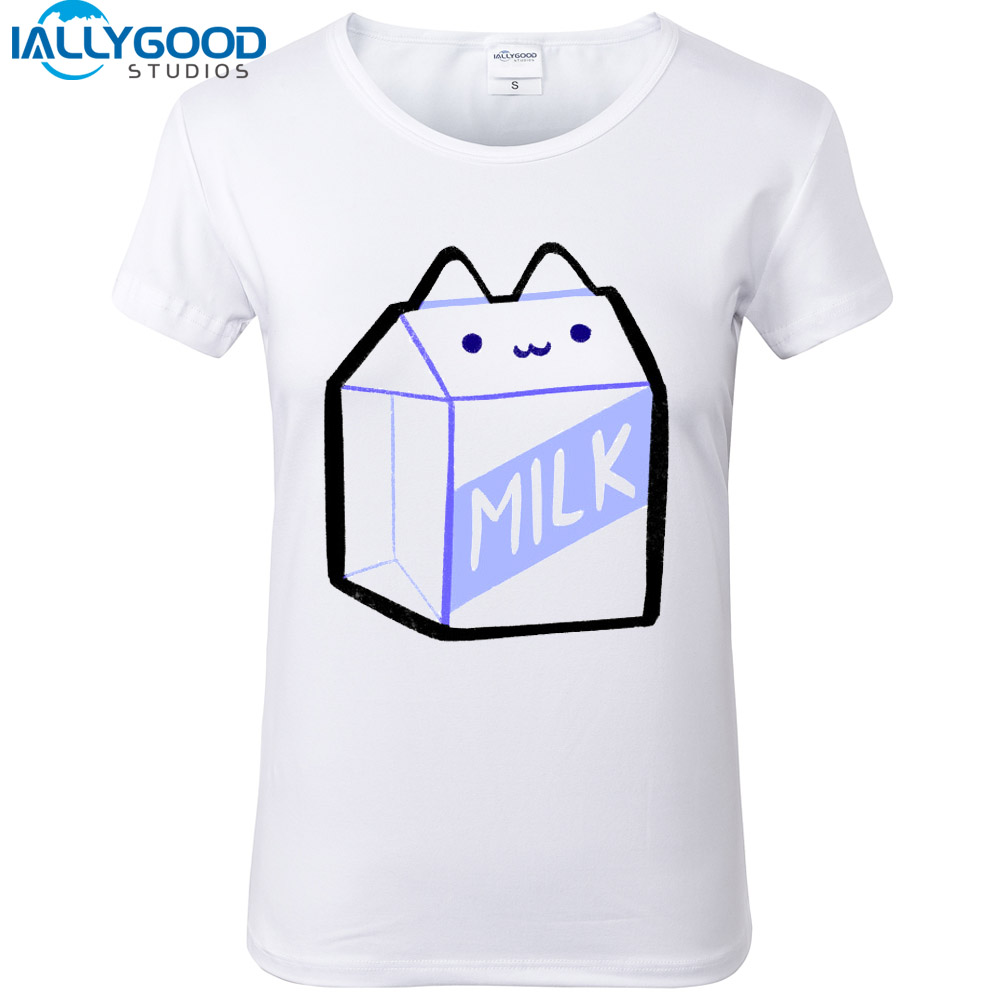 2017 New Arrival Summer Cute Cat Donut T Shirts Funny Burger fries