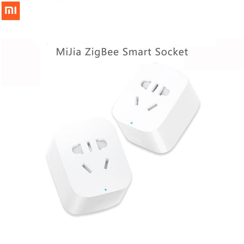100% New Xiaomi Mijia WiFi Smart Socket Plug ZigBee Version Wireless Remote Control Work With Mi Home APP For Smart Home Set