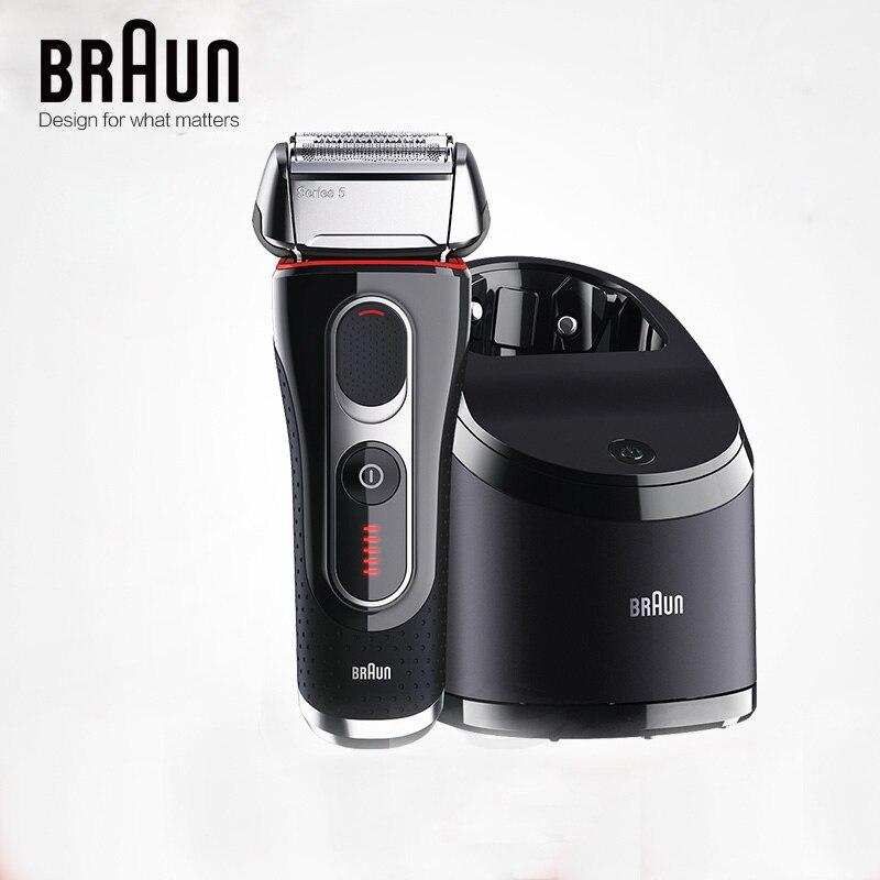 Бритва Braun электробритва бритва 5090cc для мужчин, бритвенные лезвия с возвратно-поступательным движением, перезаряжаемый моющийся очищающий центр 1