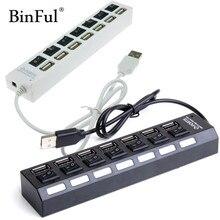 BinFul высокая скорость мини тонкий 4/7 порты и разъёмы концентратор usb 4/7 расширитель несколько конвертер адаптер для портативных ПК вкладки USB hub