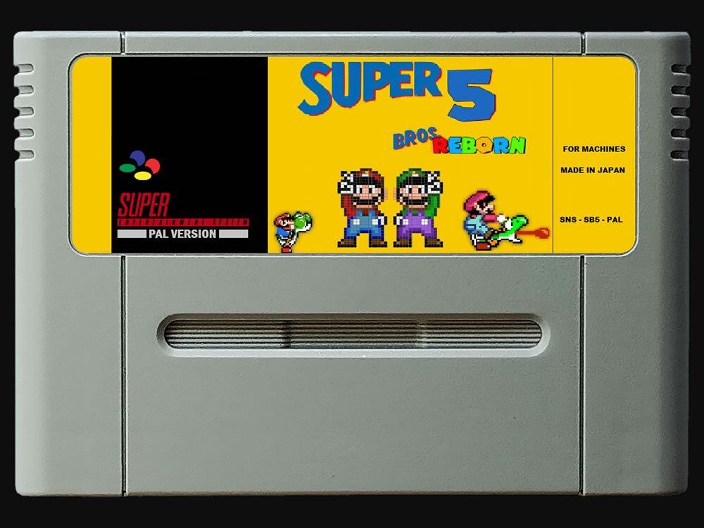 Jogos Super Bros 5 Renascido Pal Eur Versão!! 16bit **
