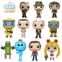 Stranger Things Sailor Moon And Rick And Morty Hopper Nancy Barb Brenner Jonathan Action Figure Toys Dolls for Collection elsadou stranger things vinyl action figure and keychain