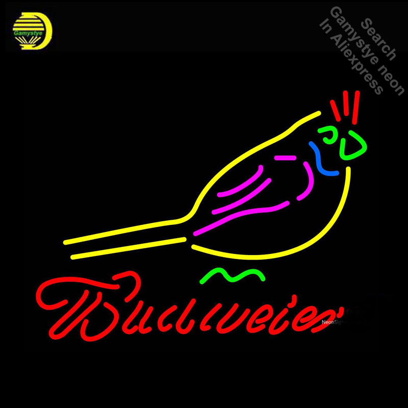Budweise Bird Neon Light Sign Neon Bulb sign Handcraft Hotel Beer Pub Signs night lampara neon personalized Lamp Advertisement