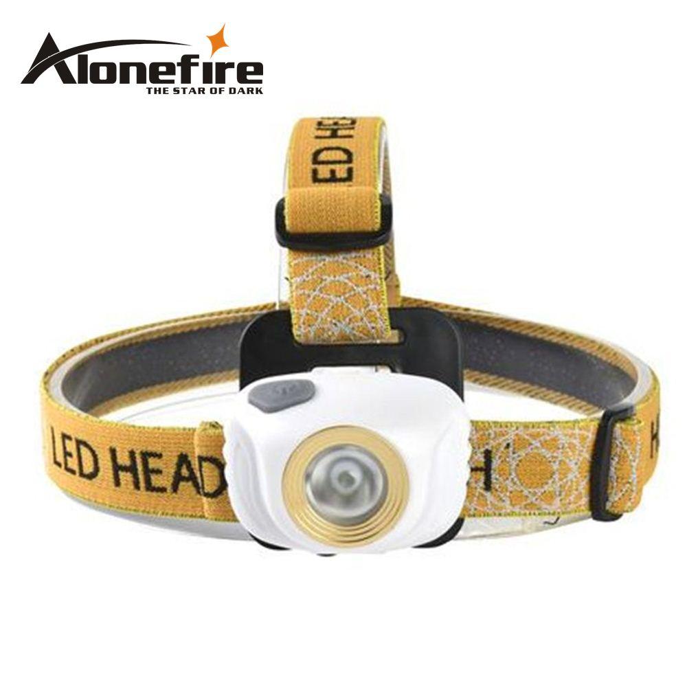 AloneFire HP89 Mini Headlamp light Outdoor Headlight Waterproof Head Lamp Lantern For Hunting USE 3xAAA battery