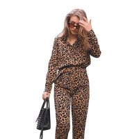 Sexy Leopard Skinny Jumpsuit Women's Jumpsuit Long Sleeve Jumpsuit 2019 Spring and Summer Bodycon fashion nova woman bodysuit