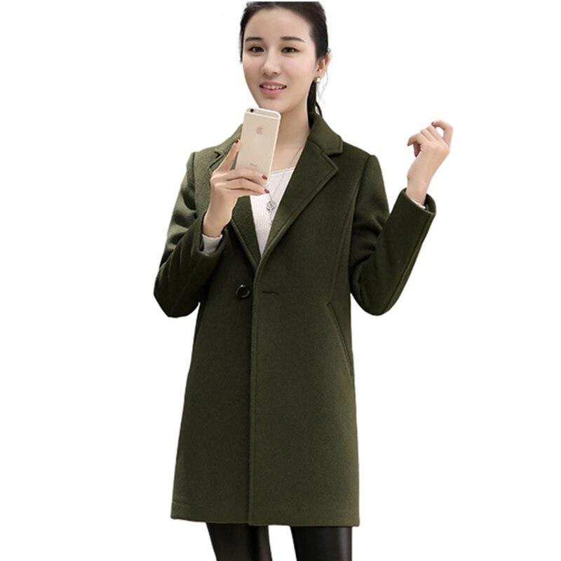 2019 Manteau Manches Haute Army Longues Moyen Super Lâche Chaud Lxt08 Mode Qualité De Long Nouveau Green Hiver Femmes pink Laine À 4qrwS4