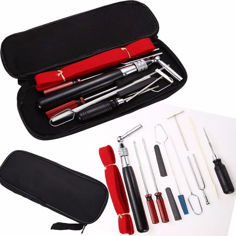 13 pièces/ensemble Kit d'outils de Maintenance de réglage de Piano avec étui pour Instruments de musique Piano pièces accessoires