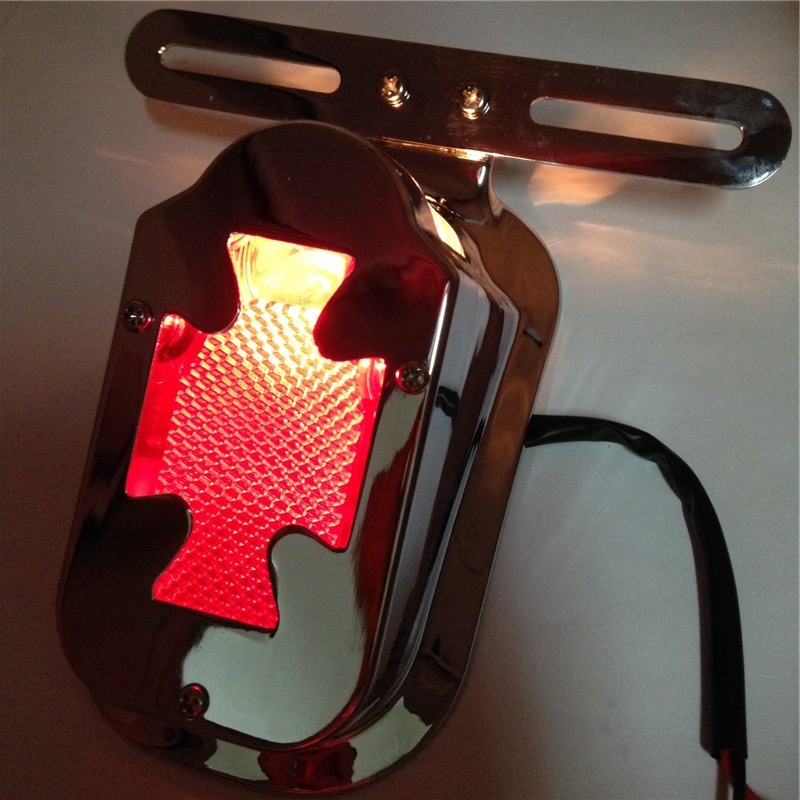 Aftermarket free shipping motorcycle parts Red Red Brake Tail Light Signals For Harley Flstn Deluxe Springer Big Twin Chrome aftermarket free shipping motorcycle parts led tail brake light turn signals for honda 2000 2001 2002 2006 rc51 rvt1000r smoke