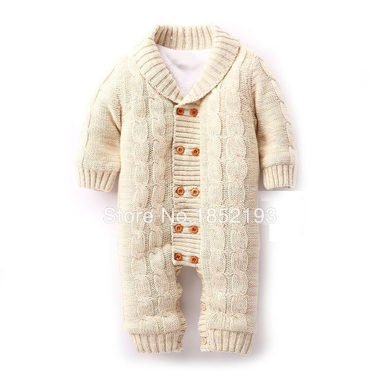 92dbb81bcafc Winter Baby Romper Infants Cotton padded Out Wear Fleece Christmas ...