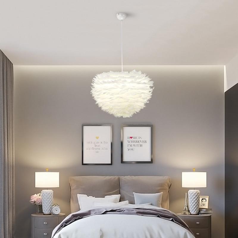 Nordic LED Bedroom Chandelier Lighting Modern Minimalist White ...