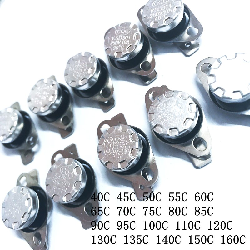 KSD301 40 градусов нормально закрытый переключатель постоянного контроля температуры NC 50C 60C 70C 80C 90C 100C 110C 120C 150C 160C|Выключатели|   | АлиЭкспресс