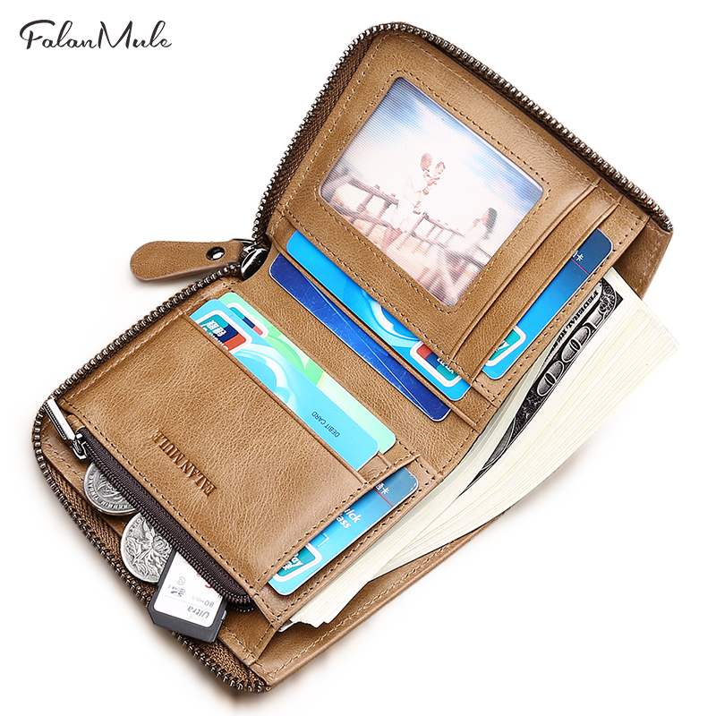 FALAN MULE Wallet Small Coin Purse Short Men Wallets Genuine Leather Men Purse Wallet Purse Vintage Men Leather Wallet 2017 new wallet small coin purse short men wallets genuine leather men purse wallet brand purse vintage men leather wallet page 5