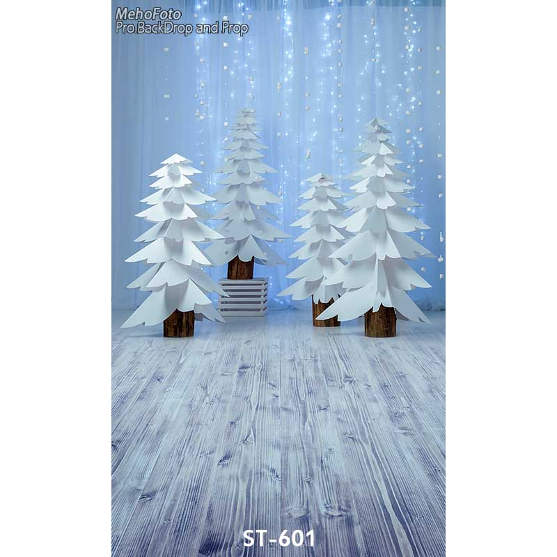 Vinyl Photography Backgrounds Computer Printed Children Christmas Tree Photography Backdrops for Photo Studio ST-601