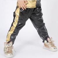 2017 Big Boys Sports Trousers Sweat Cotton Harem Pants For Boys 4 15Y Kids Hip Hop Long Sports Gold Pants Causal Boys Clothing