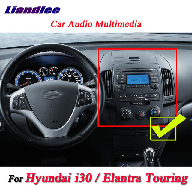 Liandlee For Hyundai i30 / Elantra Touring Manual AC Stereo Radio Camera  Wifi DVD Player GPS Map Navi Navigation Android System