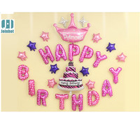 27 pcs Foil pink Happy birthday foil balloons party decorations kids Birthday party supplies Birthday party decorations kids