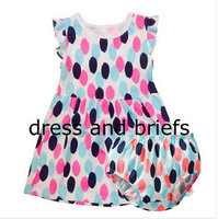 D2-002,Original Baby Girls Casual Dresses With Briefs, Fashion Rompers, Super Quality, Free Shipping