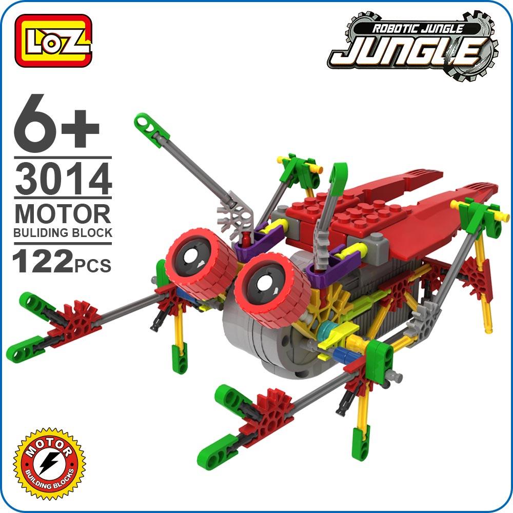 LOZ ideas Motor Building Block Robotic Cicada Robots Jungle Electric Model DIY Toys Fun Instructions Gifts Kids Educational 3014 кошелек ted baker london ted baker london te019bwriy86