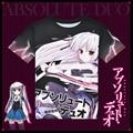 Anime Absolute Duo T-shirt Julie Sigtuna Polyester T Shirt Summer Active Otaku Men Women Clothes