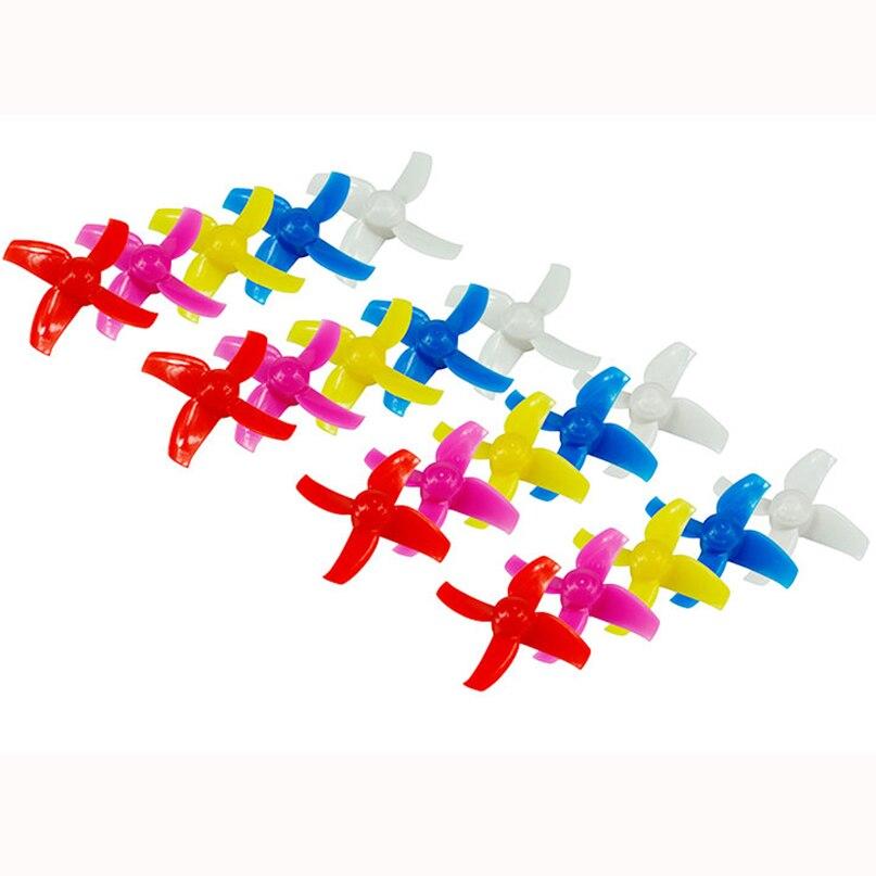 LADRC 40mm/48mm 4-Lames Hélice Props CW CCW 10 Paires pour Minuscule R7 7X INDUCTRIX FPV + 8X DIY FPV Brosse Mini Drone