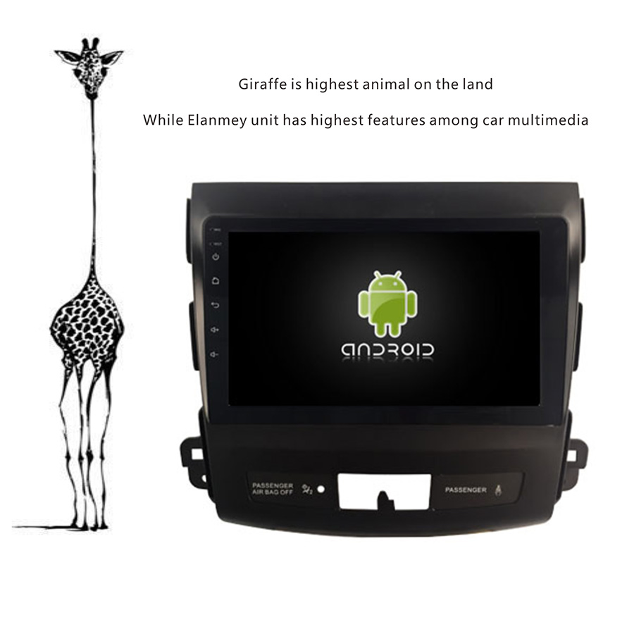 Deluxe Edition Car Android 9.0 Player for Mitsubishi Outlander 2012 Car Tablets 4G Lite sim card Bluetooth GPS Radio Head Unit