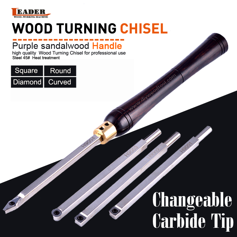 Wood Turning Tool Carbide Insert Cutter With Wood Handle Lathe Tools Chisel Set Round Shank Woodworking Tool High Quality